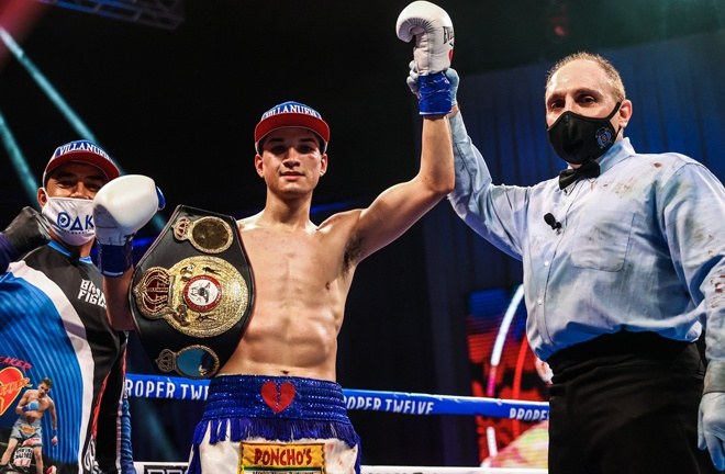 Brandon Figueroa stopped Damien Vazquez in the tenth round to retain his WBA Super Bantamweight crown Photo Credit: Amanda Westcott / Showtime