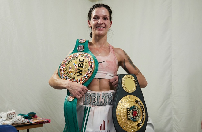 The winner is on course for a showdown with WBC champion Terri Harper Photo Credit: Mark Robinson / Matchroom Boxing