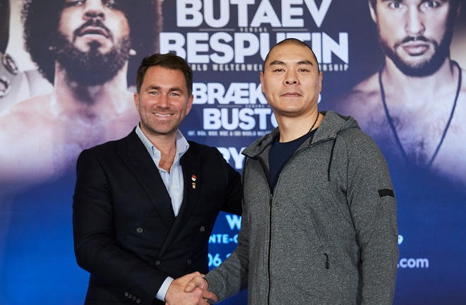 Zhang Zhilei has signed a promotional deal with Eddie Hearn and Matchroom Boxing Photo Credit: Mark Robinson / Matchroom Boxing