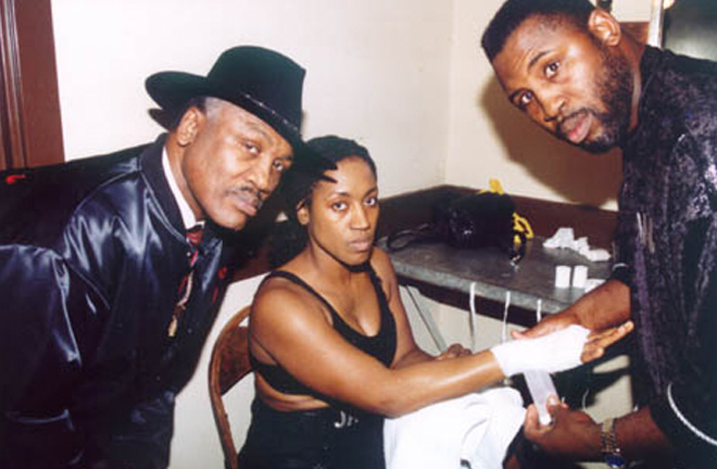 Boxing was in the blood as Jackie Frazier, Marvis' sister and Joe's daughter, competed professionally too. Photo Credit: Angelfire