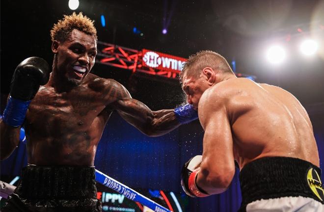 Jermall Charlo battled past Sergiy Derevyanchenko to retain his WBC Middleweight world title Photo Credit: Amanda Westcott / Showtime