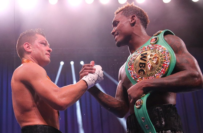 The pair embraced after twelve hard-fought rounds Photo Credit: Amanda Westcott / Showtime