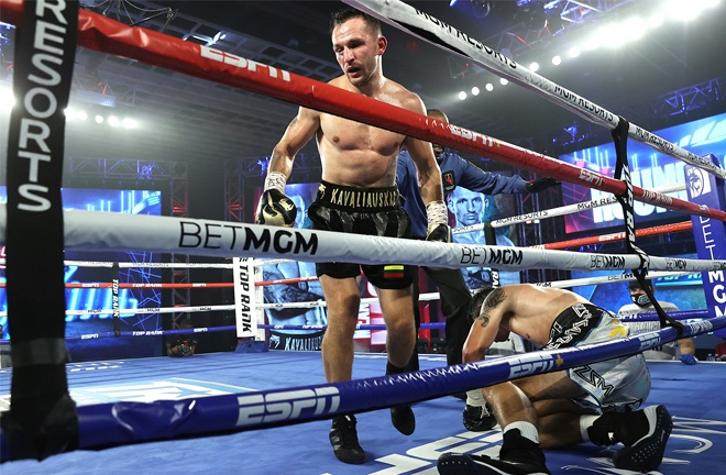 'Mean Machine' secured two knockdowns at the MGM Grand Photo Credit: Mikey Williams / Top Rank