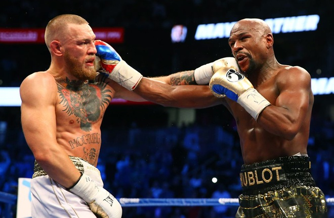 McGregor was beaten by Floyd Mayweather Jr on his pro debut in 2017 Photo Credit: Mark J. Rebilas-USA TODAY Sports