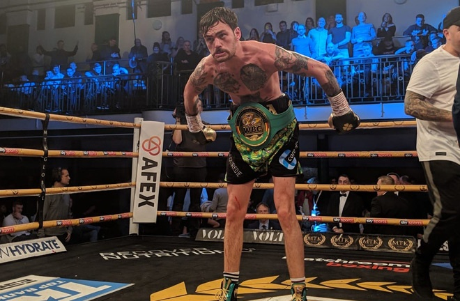 Tyrone McKenna reached the final with a controversial victory over Mohamed Mimoune Photo Credit: Scott Rawsthorne /MTK Global