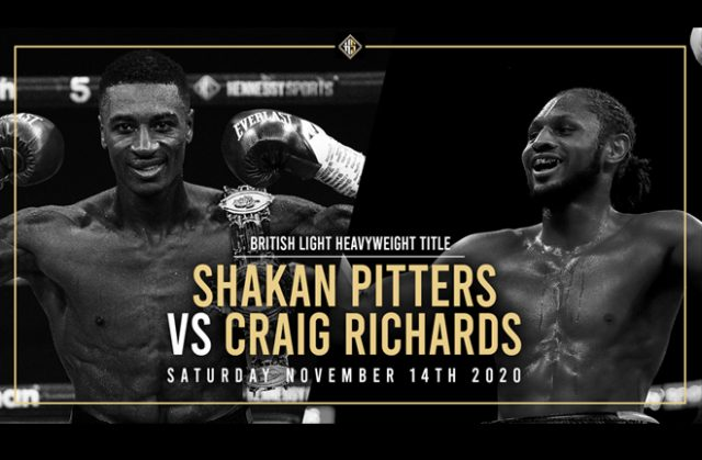 Shakan Pitters will defend his British title against Craig Richards on November 14 Photo Credit: Hennessy Sports
