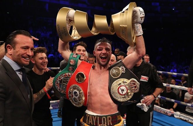 Taylor claimed the prestigious Muhammad Ali trophy with victory over Prograis Photo Credit: Mark Robinson/Matchroom Boxing