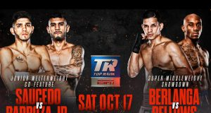 Alex Saucedo meets Arnold Barboza Jr and Edgar Berlanga returns on Vasiliy Lomachenko-Teofimo Lopez bill Photo Credit: Top Rank