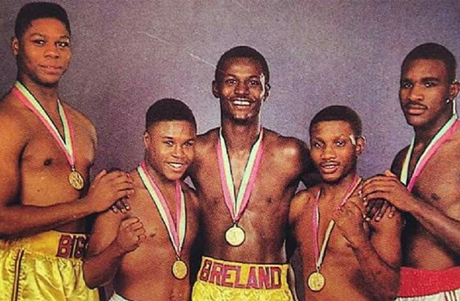 The 1984 stellar USA Olympic team, including Holyfield, Whitaker and Breland all signed with Duva's Main Events outfit