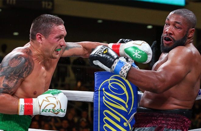 Usyk halted Chazz Witherspoon in seven rounds on his Heavyweight bow last October Photo Credit: Ed Mulholland/Matchroom Boxing USA