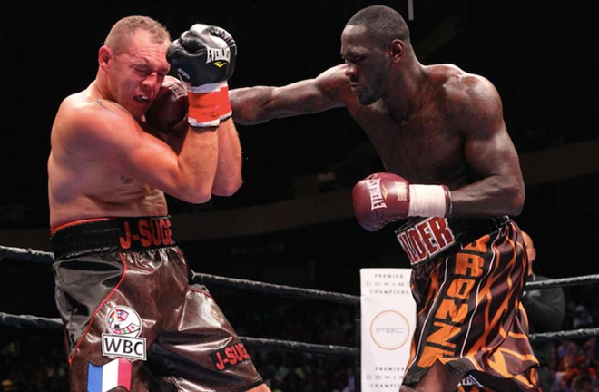 Duhaupas was stopped in eleven rounds by Deontay Wilder in Photo Credit: Lucas Noonan/Premier Boxing Champions