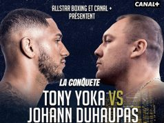 Tony Yoka clashes with Johann Duhaupas in Paris on Friday