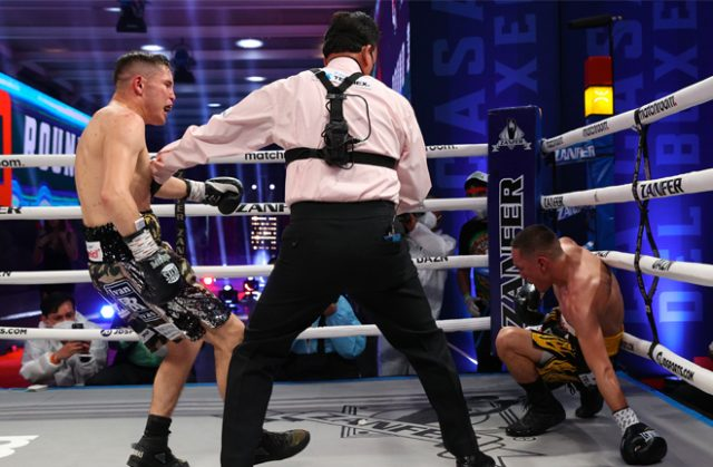 Juan Francisco Estradadefended his WBC Super Flyweight title with an eleventh round knockout ofCarlos Cuadras in a fight that could be a contender for fight of the year.