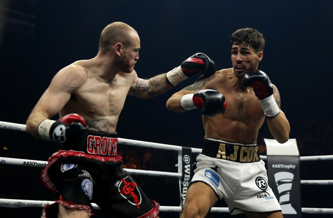 Jamie suffered his first professional defeat at the hands of George Groves. Photo Credit: Swindon Advertiser