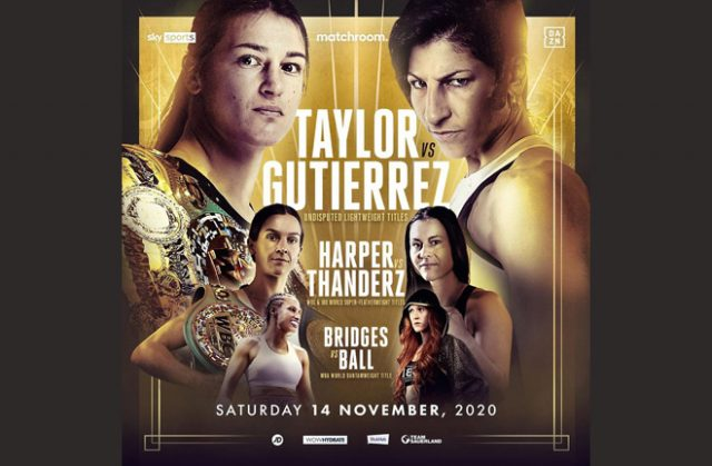 Katie Taylor and Terri Harper will defend their titles against mandatories whilst Rachel Ball will face Ebanie Bridges for world honours. Photo Credit: Matchroom