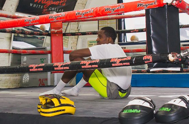 Boxing is a lonely sport at times. Photo Credit: Timid Photography