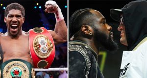 "Anthony Joshua says Deontay Wilder may has a ""master plan"" for Tyson Fury Photo Credit: Mark Robinson/Matchroom Boxing / Mikey Williams/Top Rank"