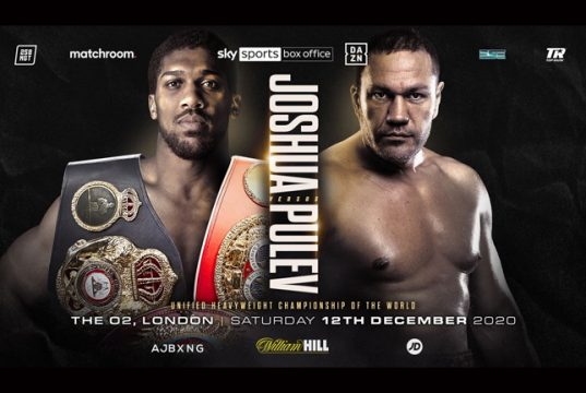 Anthony Joshua will finally meet Kubrat Pulev in London on December 12 Photo Credit: Matchroom Boxing