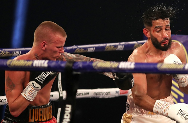 Mark Leech inflicted a first loss on former Olympian Qais Ashfaq Photo Credit: Mark Robinson/Matchroom Boxing