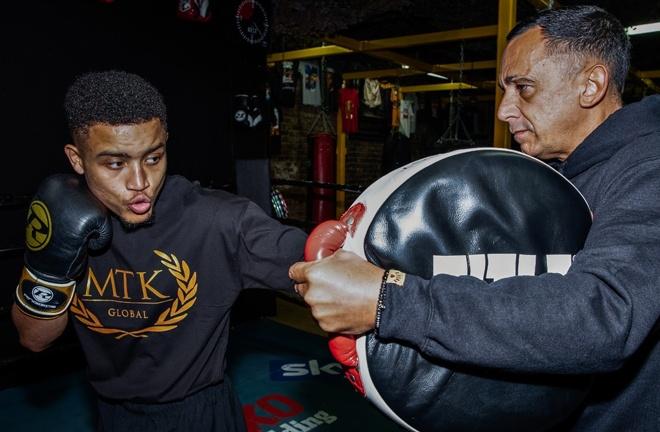 Harris clashes with former British Super Flyweight title challenger Marcel Braithwaite on Sunday Photo Credit: MTK Global