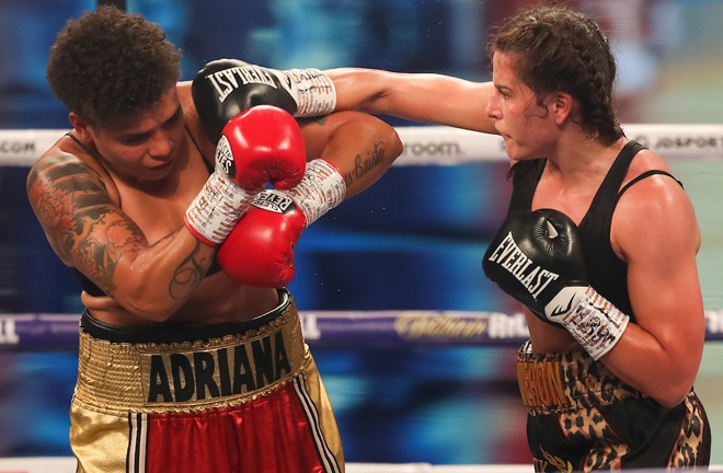 Chantelle Cameron dominated her world title fight against Ariana Araujo Photo Credit: Mark Robinson / Matchroom Boxing