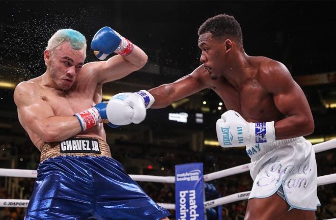 Daniel Jacobs returns following his victory over Julio Cesar Chavez Jr in December Photo Credit: Ed Mulholland / Matchroom Boxing