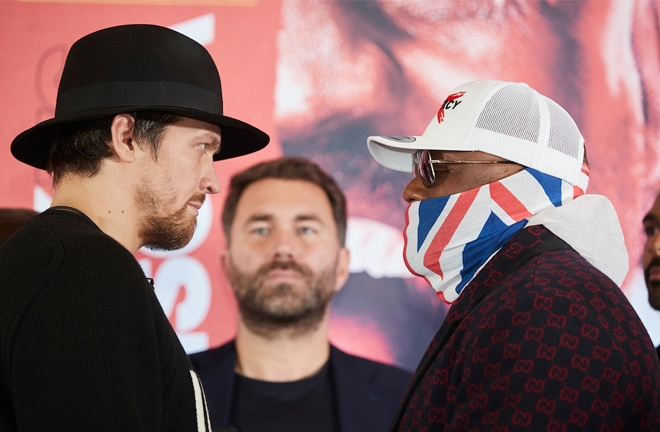 Usyk and Chisora collide for a shot at world heavyweight champion Anthony Joshua Photo Credit: Mark Robinson/Matchroom Boxing
