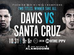 Leo Santa Cruz takes part in a virtual media workout ahead of next Saturday's showdown against Gervonta Davis