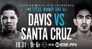 Leo Santa Cruz takes part in a virtual media workout ahead of next Saturday's showdown against Gervonta Davis