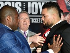 Dubois shoved Joyce at a fiery opening press conference in February Photo Credit: Action Images/Adam Holt