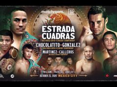 Juan Estrada defends his WBC Super Flyweight crown on a world title triple header Photo Credit: Matchroom Boxing