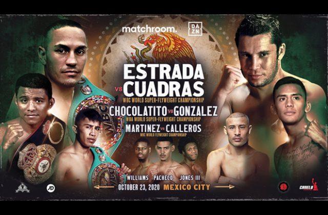 Juan Estrada defends his WBC Super Flyweight crown on a world title triple header Photo Credit: Matchroom Boxing