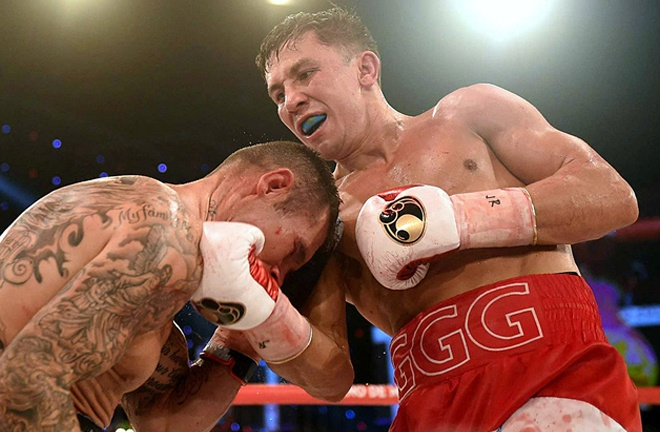 Murray was halted by Gennady Golovkin for the world middleweight title in 2015 Photo Credit: Christian Kuechl