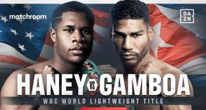 Devin Haney makes a second defence of his WBC Lightweight world title against Yuriorkis Gamboa on November 7 Photo Credit: Matchroom Boxing