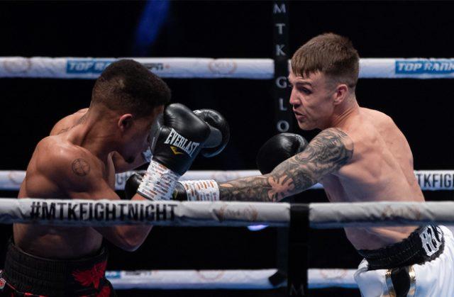 Jay Harris put in a convincing display to beat Marcel Braithwaite on Sunday Photo Credit: Scott Rawsthorne / MTK Global