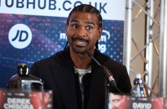 David Haye does not believe Oleksandr Usyk will have the power to stop Derek Chisora on Saturday Photo Credit: Mark Robinson/Matchroom Boxing