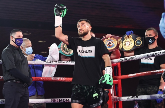 Vasiliy Lomachenko will look to bounce back after only a second career loss Photo Credit: Mikey Williams/Top Rank
