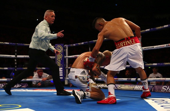 Julio Cesar Martinez's win over Charlie Edwards was overturned Photo Credit: Mark Robinson/Matchroom Boxing