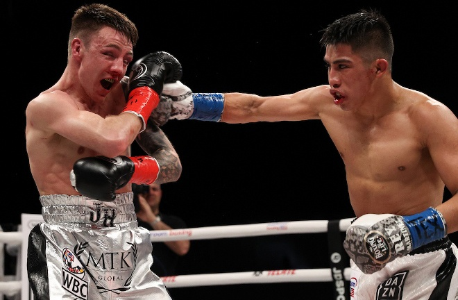 Martinez made a first defence of his crown with a points victory over Jay Harris in February Photo Credit: Ed Mulholland/Matchroom Boxing