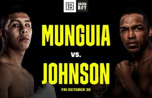 Undefeated Mexican superstar Jaime Munguia faces Tureano Johnson on Friday Photo Credit: DAZN