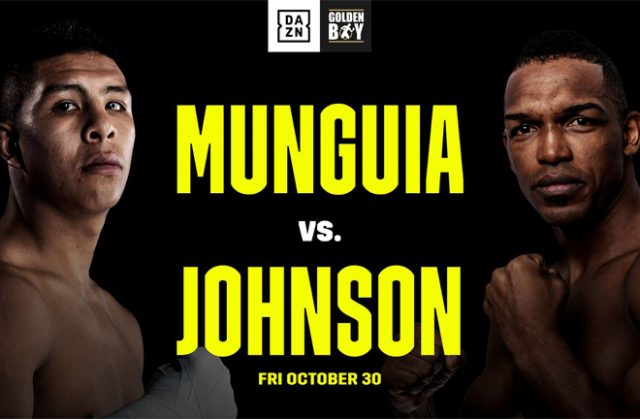 Undefeated Mexican superstar Jaime Munguia faces Tureano Johnson on Friday Photo Credit: DAZN