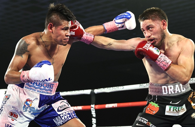 Villa rallied back to give Navarette a hard-fought victory Photo Credit: Mikey Williams / Top Rank