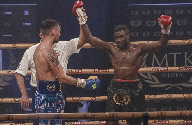 Ohara Davies settled his grudge with Tyrone McKenna to claim the MTK Golden Contract Photo Credit: Scott Rawsthorne / MTK Global