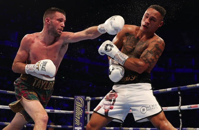 Josh Taylor beat Regis Prograis in front of a sold out O2 Arena in the WBSS final last October Photo Credit: Mark Robinson/Matchroom Boxing