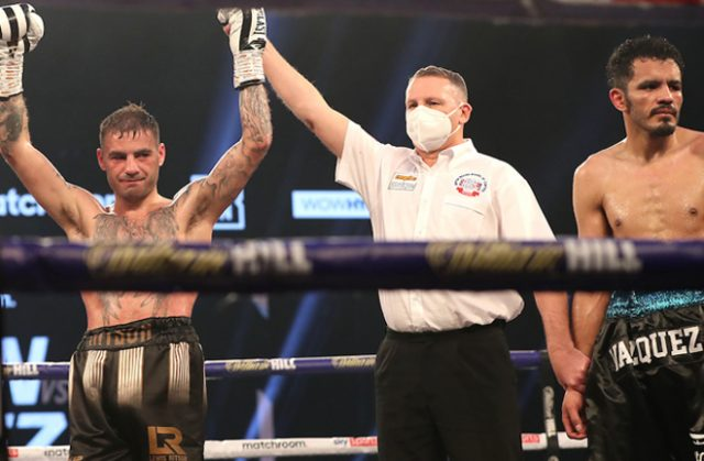 Judge Terry O'Connor delivered a highly-contentious 117-111 score as Ritson emerged victorious Photo Credit: Mark Robinson/Matchroom Boxing