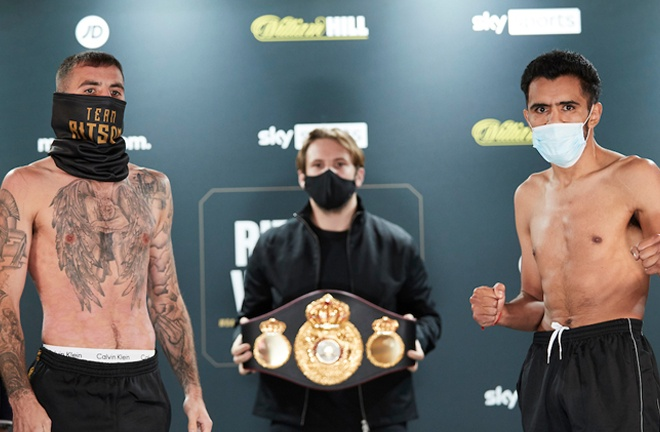 Ritson and Vazquez will battle it out for the WBA Inter-Continental title Photo Credit: Mark Robinson / Matchroom Boxing