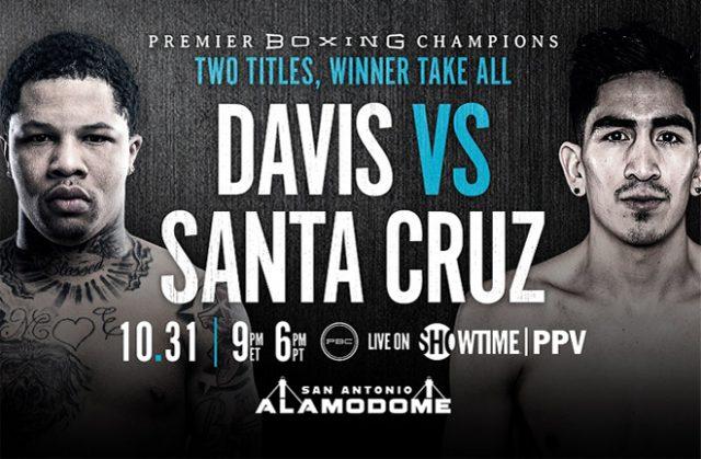 Gervonta Davis faces Leo Santa Cruz on October 31