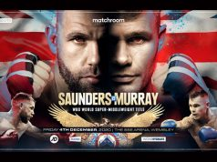 Billy Joe Saunders will make a second defence of his WBO Super Middleweight crown against Martin Murray in London on December 4th