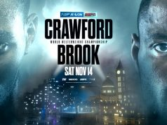 Terence Crawford and Kell Brook will face each other on November 14.