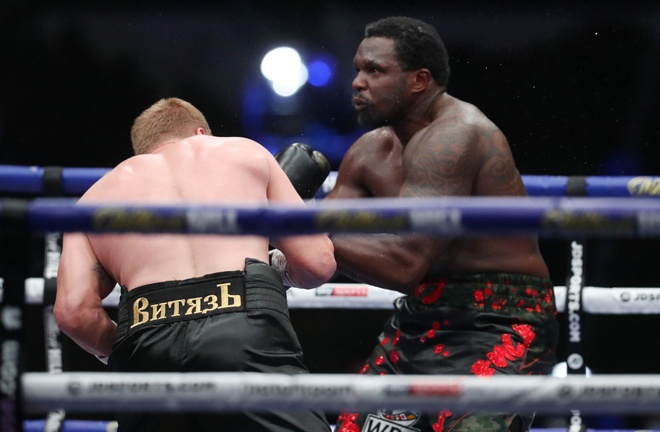 Dillian Whyte looks to respond after his brutal KO loss to Alexander Povetkin in August Photo Credit: Mark Robinson/Matchroom Boxing